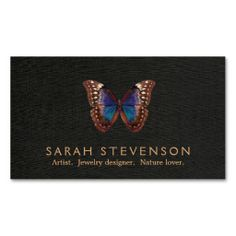 Vintage Illustration of Butterfly Wing Jewelers Business Card Templates. I love this design! It is available for customization or ready to buy as is. All you need is to add your business info to this template then place the order. It will ship within 24 hours. Just click the image to make your own!