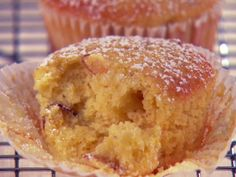 Orange-Scented Almond and Olive Oil Muffins--Giada De Laurentis. I'm thinking I can make a few substitutions to make this a cleaner recipe. Sounds delish!