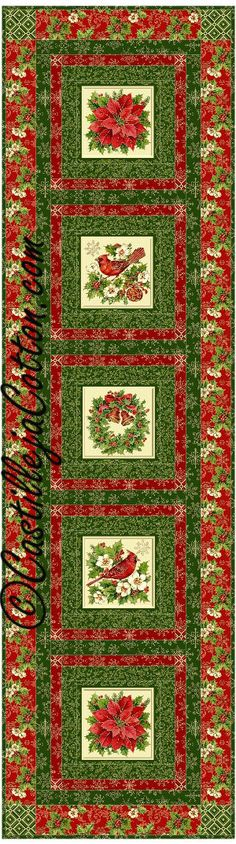 Windows Table Runner Quilt Pattern - Christmas #TableRunnerquiltpattern #northcottTisTheSeason