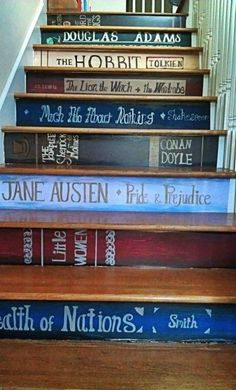Paint your favorites on your stairs