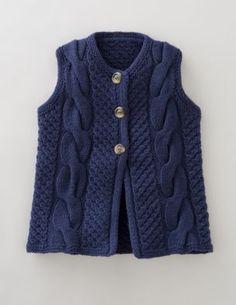 Knitting Pattern Gilet : tuto du GG (Gilet de Guillaume !) - taille 2 ans - Unisexe Crochet-knit Bab...
