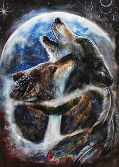 Native American Indians and Wolves   The Enlightened Time Music by Jana Mashonee