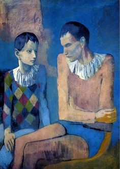 Acrobat and young Harlequin, 1905. (pink period),Pablo Picasso.