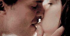 Lip bite ;) / Fifty Shades Of Grey / Christian Grey / Jamie Dornan / Anastasia Steele / Dakota Johnson / Sexy / love / perfect / #FiftyShades