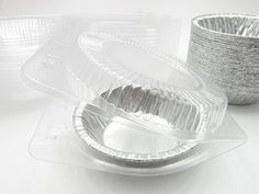 5 Disposable Pot PiePie PansIndividual Dessert Pans With Clear Clamshell containers Quantity Pack Options 25 >>> Continue to the product at the image link. #Dessert
