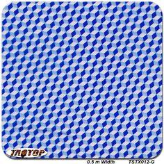 TSTX012-G Blue color 0.5m *2m Carbon Fiber transparent Pattern PVA Water Transfer Printing Film hydro graphic dipping film #Affiliate