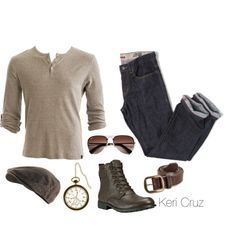 A fashion look from June 2014 featuring ribbed tee, timberland boots und leather belts. Browse and shop related looks. Men's Fashion, Autumn Fashion, Fashion Looks, Fashion Outfits, Mode Masculine, Casual Wear, Casual Outfits, Men Casual, Comfy Casual