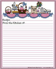 Recipe Card Free to Print
