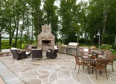Patio with fireplace - could add inground spa