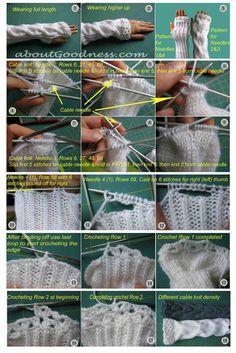 Knitted Wrist Warmers: DIY Tutorial