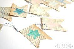 Wimpelkette aus Buchseiten