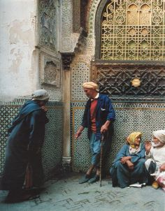 Le sanctuaire de Moulay Idriss est un lieu sacré à Fès- photo de Bruno Barbey