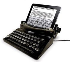 iPad-Typewriter.jpg  I was the girl that had a Petite Typewriter so this is totally me.  Must have-wantsies!