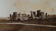 1877 photograph of Stonehenge, prior to any restoration work.