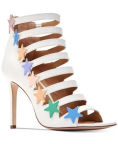 Katy Perry Stella Star Studded Sandals - White 6.5M