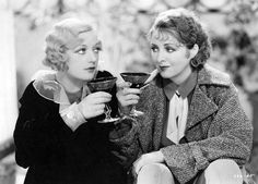Marion Davies & Billie Dove drink up in 1932's Blondie of the Follies