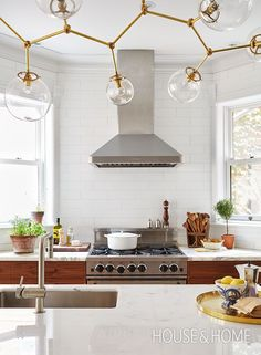 awesome non-traditional kitchen lighting