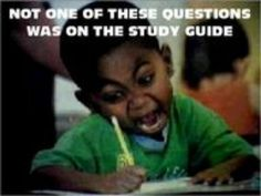 So true with nursing school tests...