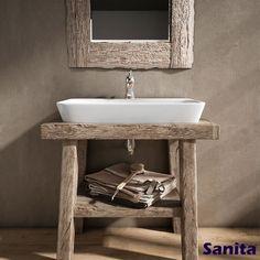 Vasque rectangulaire en céramique 65 cm Bathroom Interior Design, Interior Decorating, Bathroom Remodel Cost, Tiny Cabins, Vintage Wood, Kenya, Basin, Vanity, Inspiration