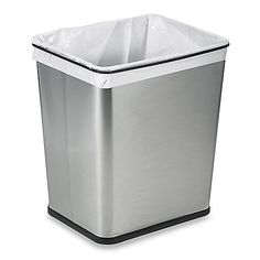 Whether used for recycling or trash, this multifunctional can with a square design will be a perfect fit in any room or in your kitchen cabinets. Features an elegant and durable brushed stainless steel finish and a rubber base that won't scratch floors.
