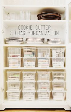 My Cookie Cutter Organization Project | working on labels this weekend, posting updates here: instagram.com/sweetkiera