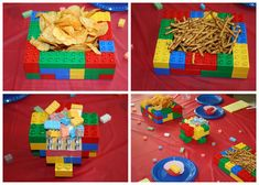 How cute is this?! LEGO party or even cute playdate ideas