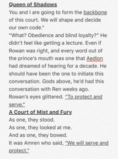 When Aelin's court and Feyre's court says the same thing about how they will always protect them!!!! Sarah J. Maas' books are just the best, and both Queen of Shadows and A Court of Mist and Fury was AMAZING!!!!!