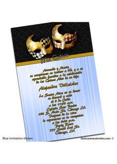 Invitaciones de Mascaras - Masquerade Theme
