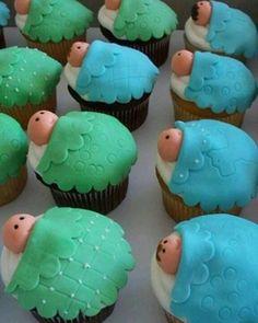 Lindos y deliciosos cupcakes para tu baby shower <3