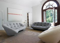 Ligne Roset Sofas armchairs and dining furniture; occasional tables, home-office and entertainment, bedroom and storage furniture; Sofa Design, Canapé Design, Deco Design, Interior Design, Design Ideas, Living Room Upholstery, Furniture Upholstery, Paint Upholstery, Upholstery Repair