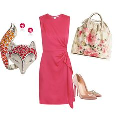 in love with that bag, but I like the idea of solids with floral accents