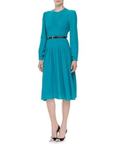 Georgette Pleated Dress  by Michael Kors at Neiman Marcus.