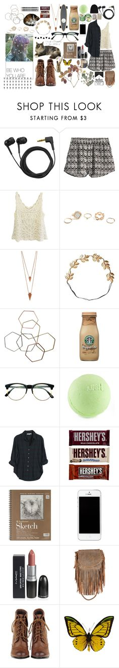 """""""my style"""" by one-awkward-hipster ❤ liked on Polyvore featuring Sennheiser, H&M, GUESS, Jules Smith, Eddera, Monki, Isabel Marant, Retrò, Xirena and PLANT"""