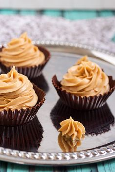 Dark Chocolate Peanut Butter Mousse Cups