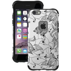 BALLISTIC UT1667-B29N iPhone(R) 6/6s Urbanite(TM) Select Case (Black Textured TPU with Tiger Lily Pattern)
