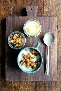 Greek yogurt + lemon curd + toasted muesli = yum yum yum.