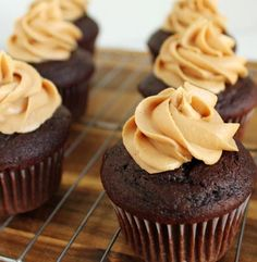 Peanut Butter Chocolate Cupcakes | Simple Dish | Quick, Easy, & Healthy Recipes for Dinner I made these and drizzled melted chocolate on top! Best chocolate cake from scratch I have ever tasted!!! Its a keeper