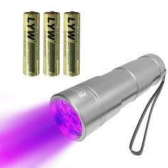 UV Blacklight Flashlight Pet Stain and Urine Detector - Best Ultra Violet Torch to Use With Natures Miracle, Anti Icky Poo to Find Stains and Keep Urine Off - Include 3xAAA Alkaline Batteries Installed * Check this awesome product by going to the link at the image.