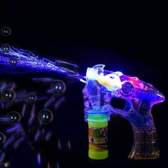LED Bubble Gun With Flashing Sound Light Up Bubbles Blaster Shooter Birthday Party Favor |  Bored with the traditional bubble gun shooters? Try our all new and exhilarating LED Sound Flashing Light Bubble Shooter Gun. Combining all the elements of magical fantasy; Lights, Music, Colors, and Bubbles, our unique bubble shooter will give your child a toy of his dreams. Blow the bubbles of joyful colors with this amazing light up bubble gun that will give your child a new, entertaining, and…