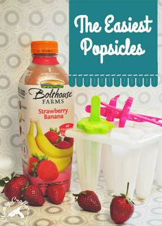 Easy and Healthy Popsicles - Super easy to make! from Clumsy Crafter