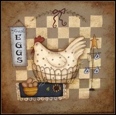 E Pattern  Chicken in a Basket  Instructional Packet by skb007, $5.00