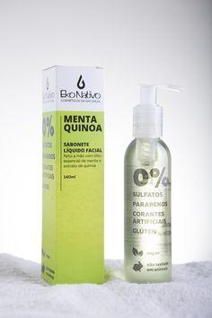 Sabonete Líquido Facial - Menta & Quinoa