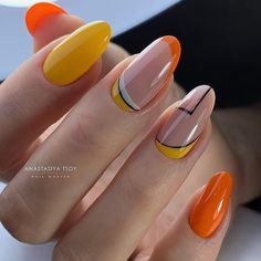 In look for some nail designs and some ideas for your nails? Here's our set of must-try coffin acrylic nails for trendy women. Neon Nail Art, Neon Nails, Yellow Nails, Pink Nails, Dream Nails, Love Nails, My Nails, Minimalist Nails, Nagel Blog