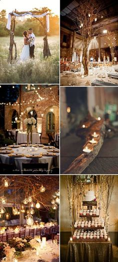 25 chic and easy rustic wedding arch ideas for diy brides weddings rustic twigs and branches romantic rustic wedding decor ideas junglespirit Images