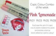 Copic Colour Combo - Pink Lemonade #dawnlewis.com.au #copic