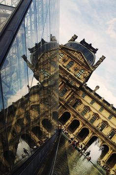 Louvre Reflected In I.M. Pei //Architecture