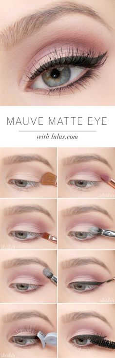 Sexy Eye Makeup Tutorials - Mauve Matte Eye Tutorial - Easy Guides on How To Do Smokey Looks and Look like one of the Linda Hallberg Bombshells - Sexy Looks for Brown Blue Hazel and Green Eyes - Dramatic Looks For Blondes and Brunettes - thegoddess.com/sexy-eye-makeup-tutorials