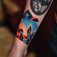 First Tattoo, Tattoo You, Back Tattoo, Tattoo Stickers, Geometric Henna, David, Sleeve Tattoos For Women, Color Tattoo, Ink Art