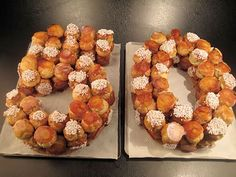 Fødselsdagskage i croquembouche-stil - Typical Miracle Profiteroles, Eclairs, Number Birthday Cakes, Number Cakes, Croquembouche Recipe, Cream Puff Cakes, Beaux Desserts, Creme Puff, Choux Pastry
