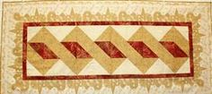 Pole Twist Table Runner at Common Threads Quilting.